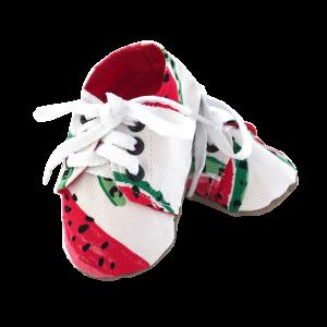 watermelon baby sneakers